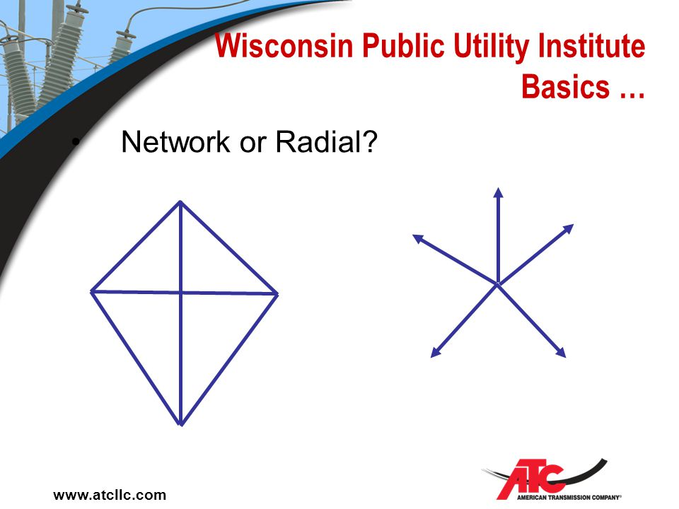 www.atcllc.com Wisconsin Public Utility Institute Basics … Distribution is the movement of electric energy from central delivery points to the points