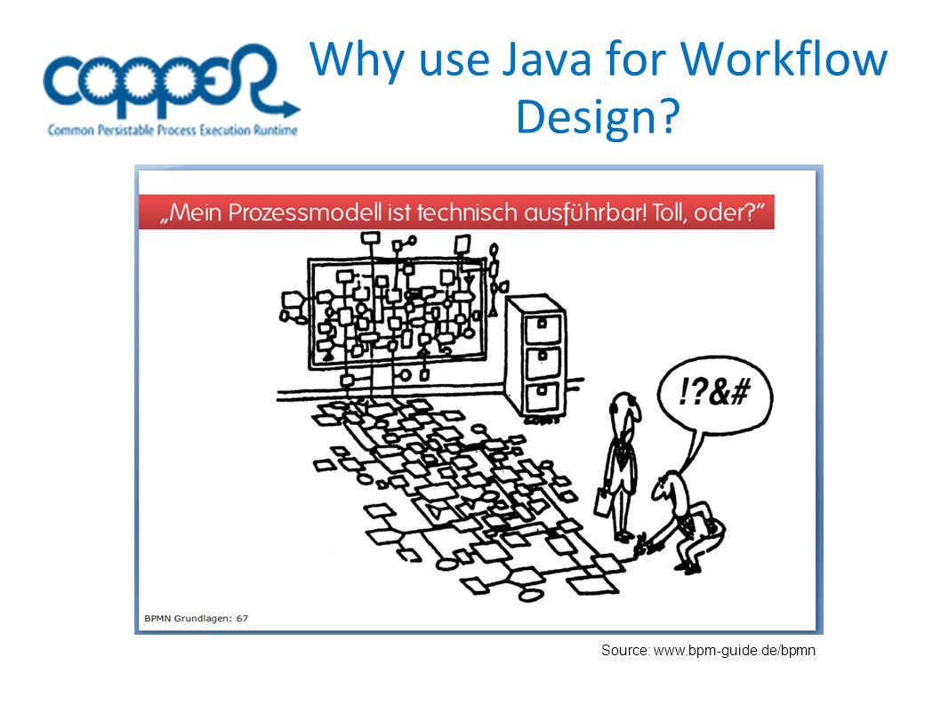 Why use Java for Workflow Design? Source: www.bpm-guide.de/bpmn