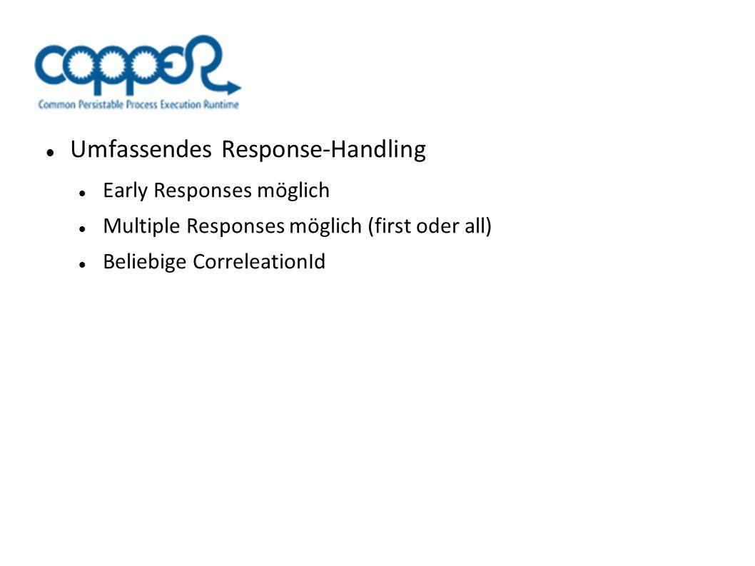 Umfassendes Response-Handling Early Responses möglich Multiple Responses möglich (first oder all) Beliebige CorreleationId