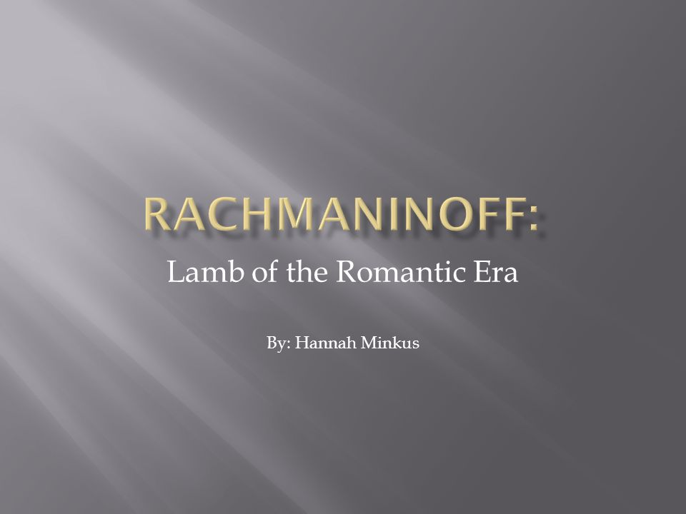 Lamb of the Romantic Era By: Hannah Minkus