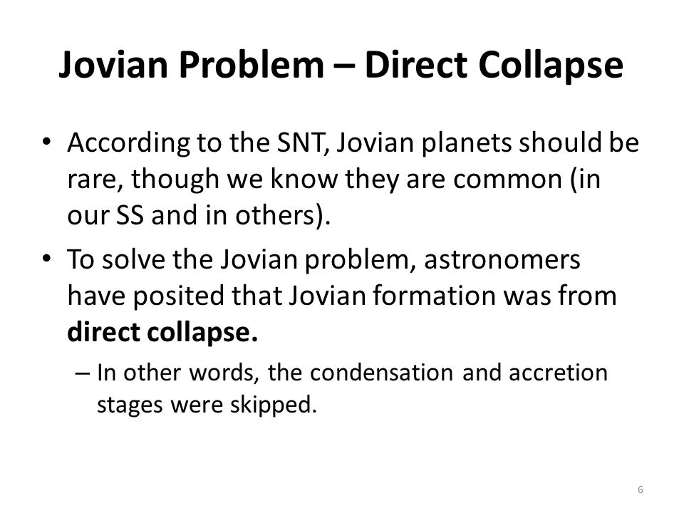 Jovian Problem – Direct Collapse Artistic rendition of what gravitational collapse might look like.