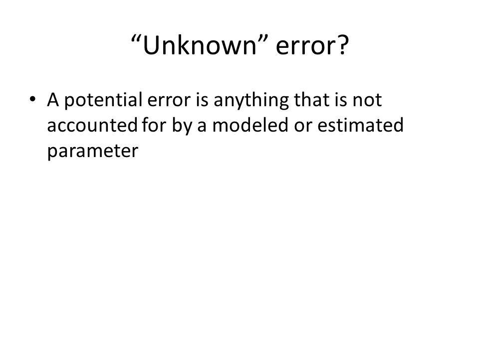 Unknown error.
