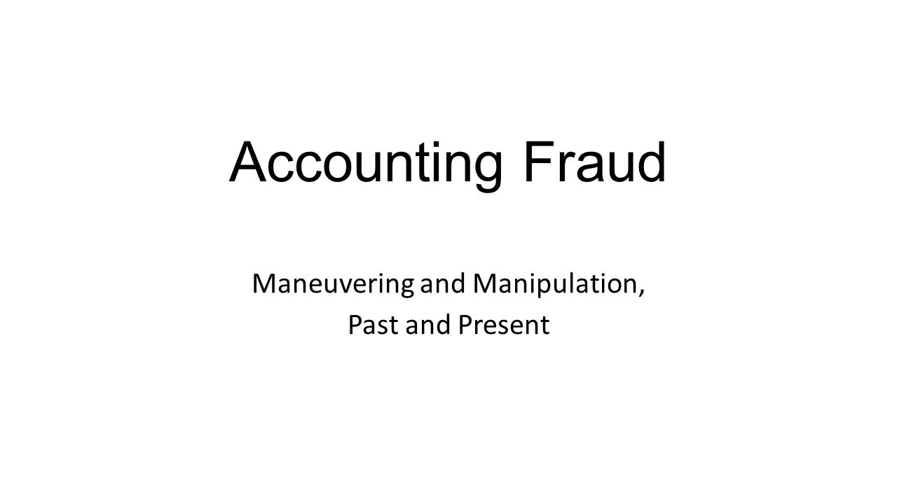 This is the Story I Want to Tell in the Book Defining the various illicit financial and accounting acts over time, attempting to identify the major perpetrators and the reasons for their actions, determining what regulations were effective and why, and using the historical evidence to attempt to predict the future.