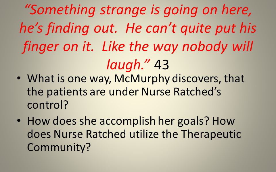 Pete's Outburst – p.49 What was he trying to tell the patients.