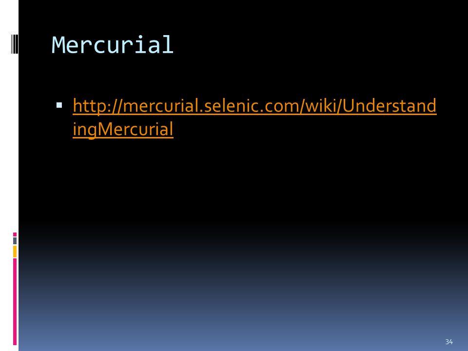 Mercurial  http://mercurial.selenic.com/wiki/Understand ingMercurial http://mercurial.selenic.com/wiki/Understand ingMercurial 34