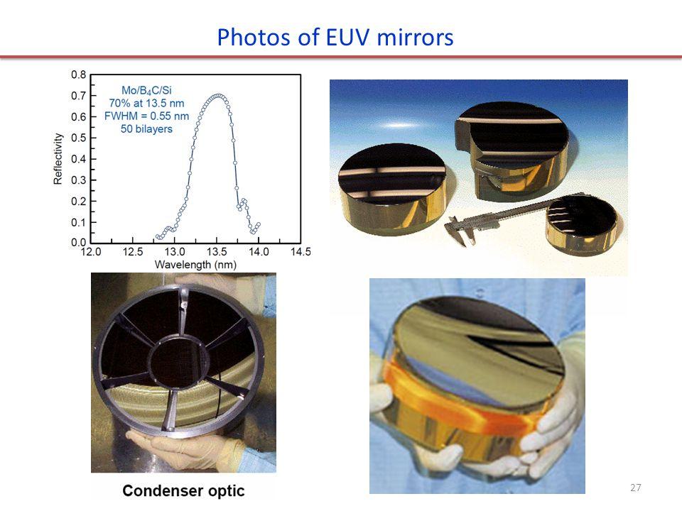 Photos of EUV mirrors 27
