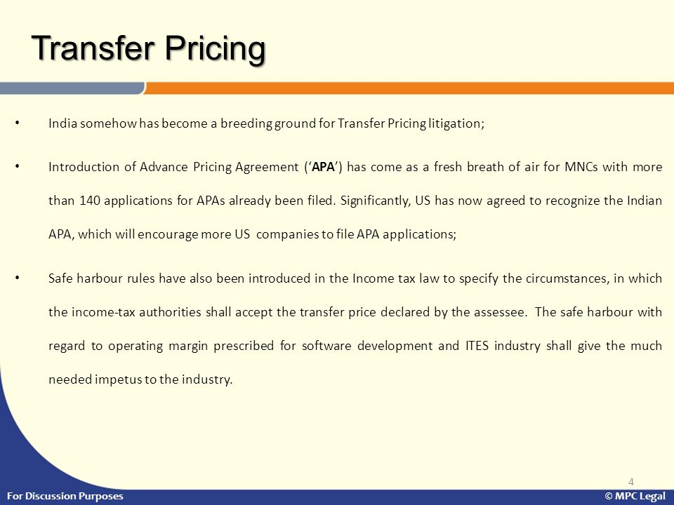 India somehow has become a breeding ground for Transfer Pricing litigation; Introduction of Advance Pricing Agreement ('APA') has come as a fresh breath of air for MNCs with more than 140 applications for APAs already been filed.