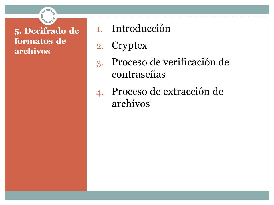 5. Decifrado de formatos de archivos 1. Introducción 2.