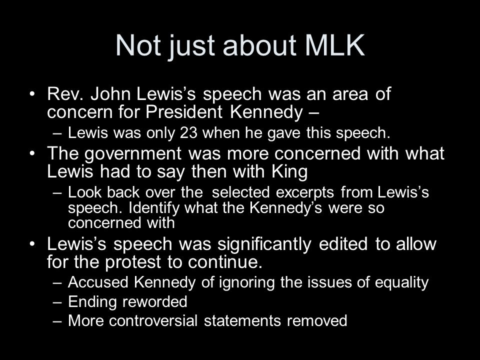 Not just about MLK Rev.