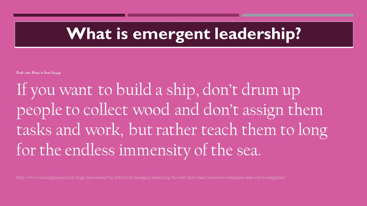What is emergent leadership.
