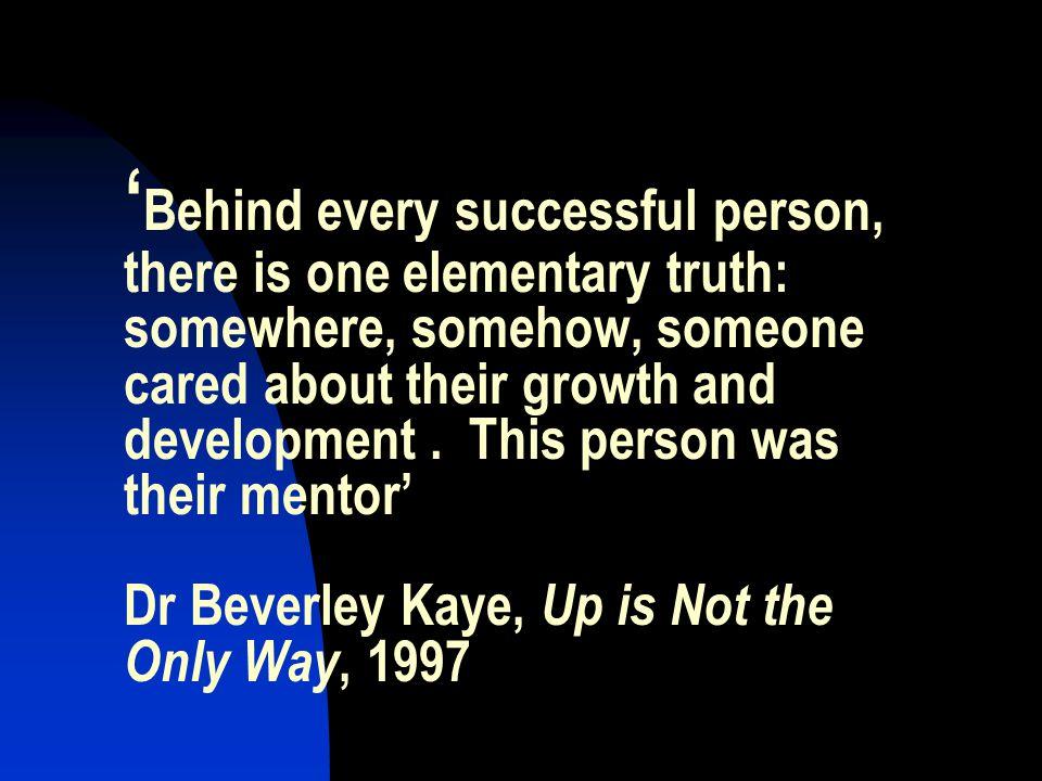 Mentor = Trusted friend or advisor