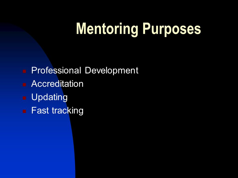 Two-way process of mentoring 'Mentoring is a two- way process in which both mentor and coach benefit from the networking, sharing of ideas and interaction that can lead to lifelong friendship and betterment of the sport' Adapted from the Lacrosse Case study