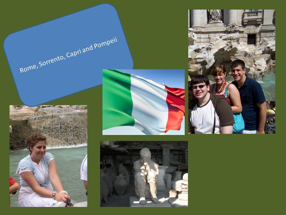 Rome, Sorrento, Capri and Pompeii