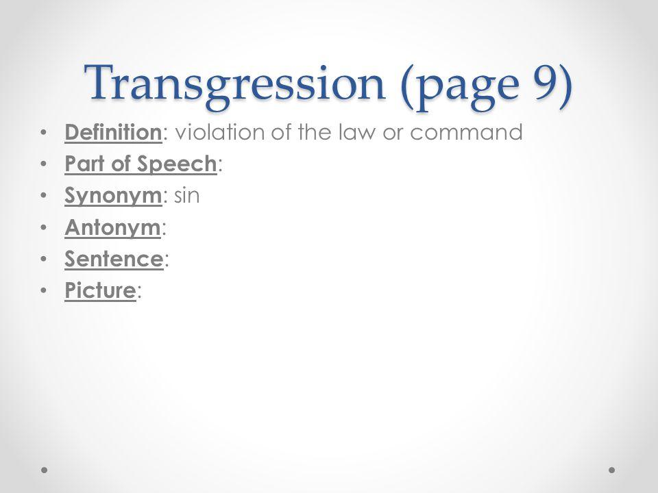 Admonition (page 90) Definition : Part of Speech : Synonym : Antonym : Sentence : Jonas listened.