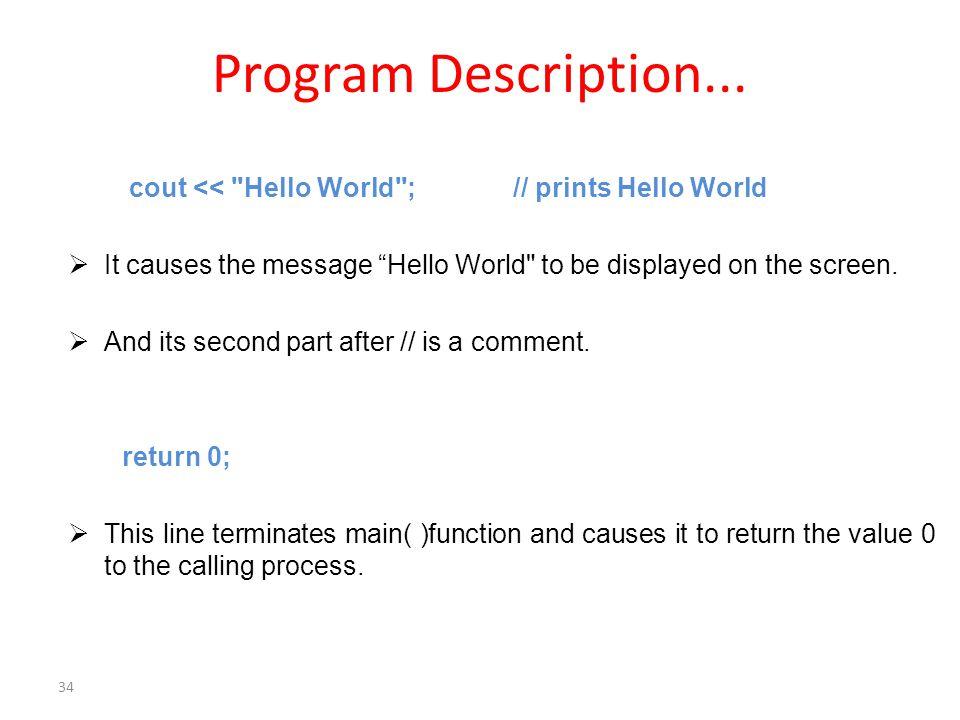 Program Description...