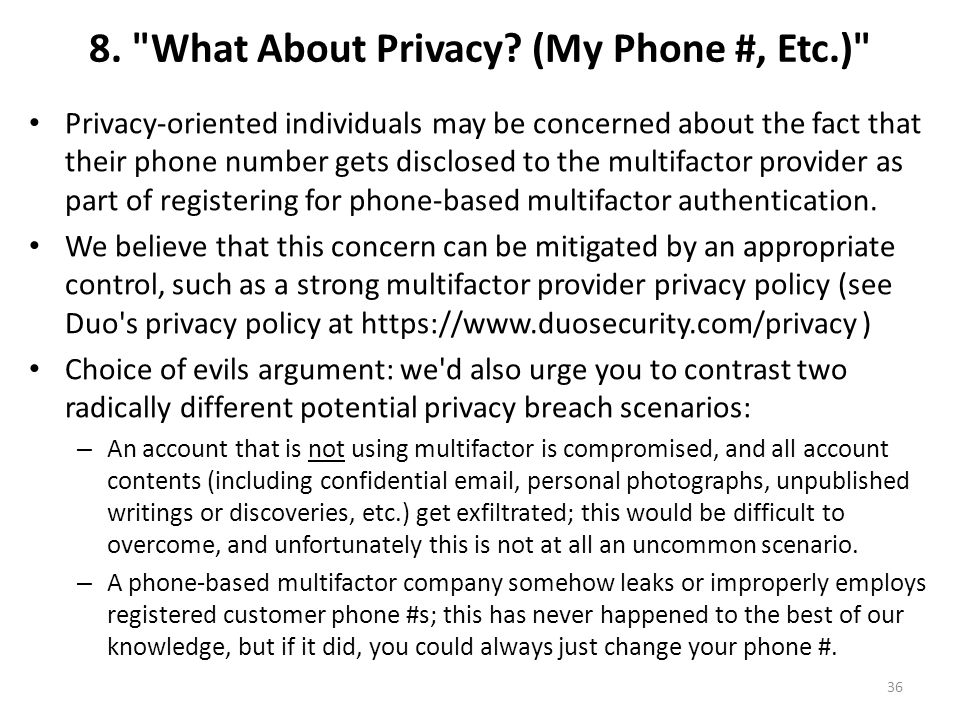 8. What About Privacy.