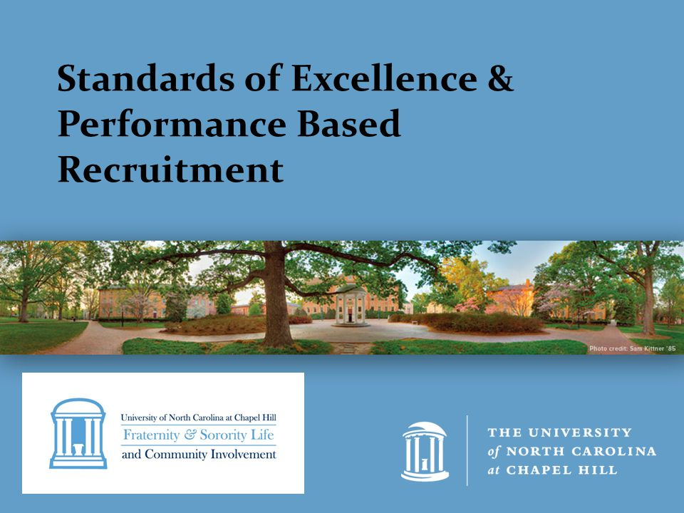 Standards of Excellence & Performance Based Recruitment