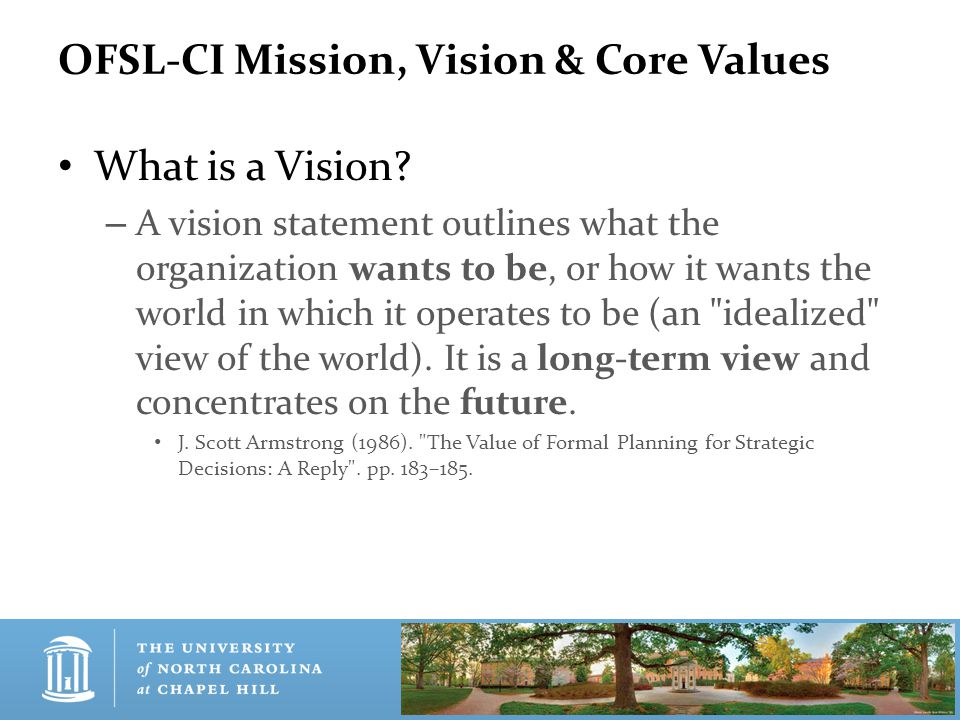 Our Vision The Office of Fraternity & Sorority Life and Community Involvement will help students achieve excellence through both interfraternal and off-campus-living experiences.