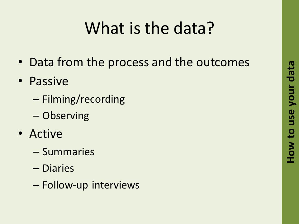 What is the data.