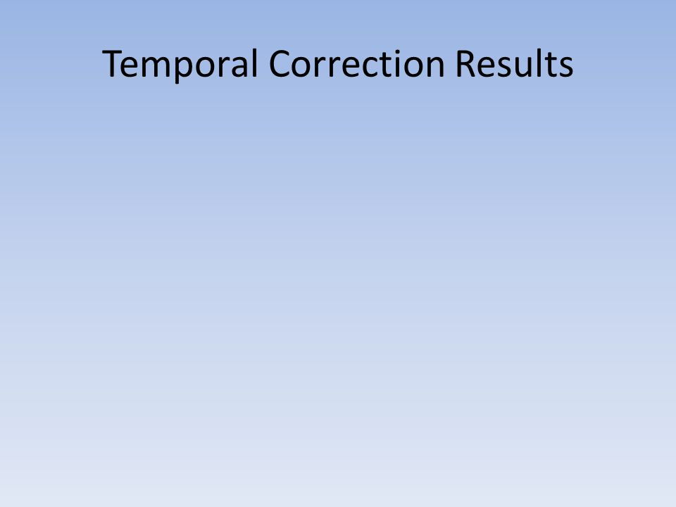 Temporal Correction Results