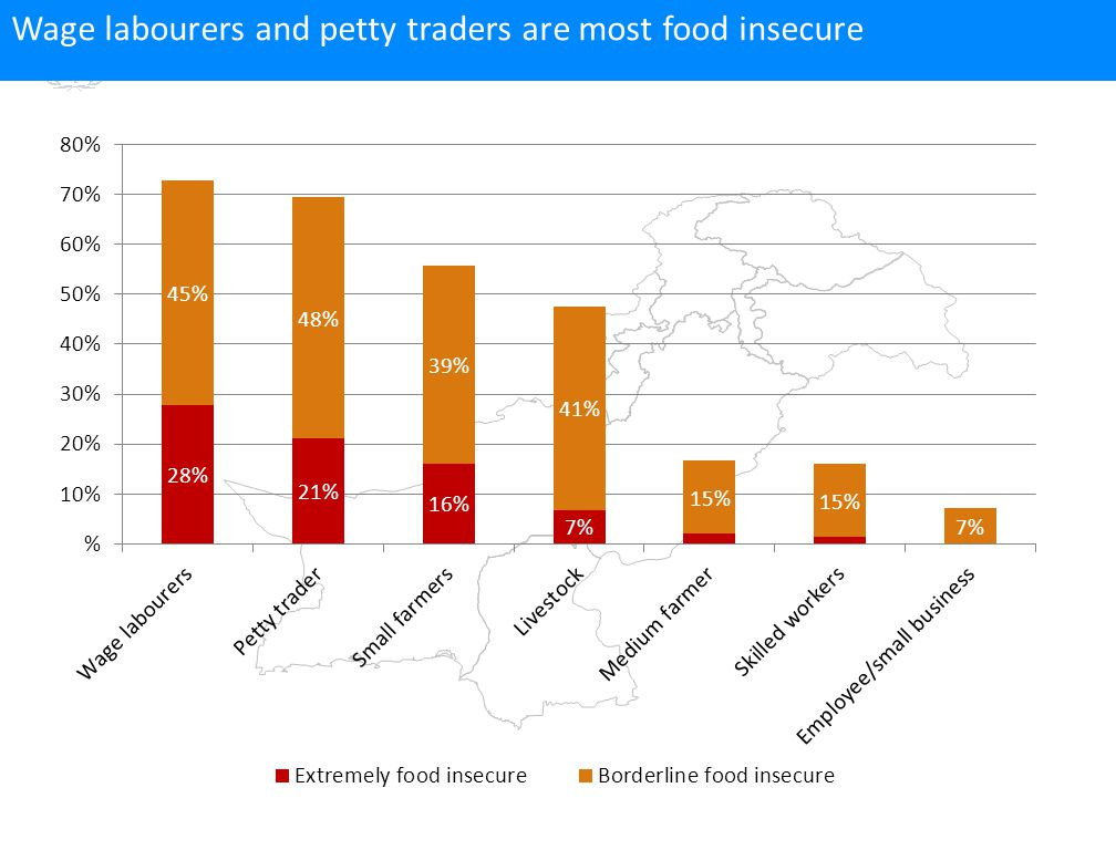 Wage labourers and petty traders are most food insecure