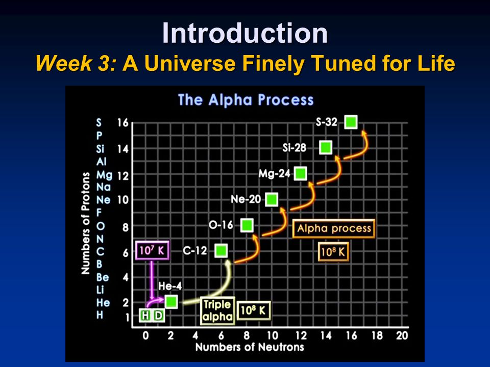 Introduction Week 3: A Universe Finely Tuned for Life