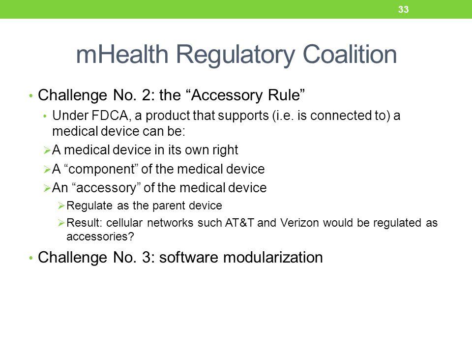 mHealth Regulatory Coalition Challenge No.