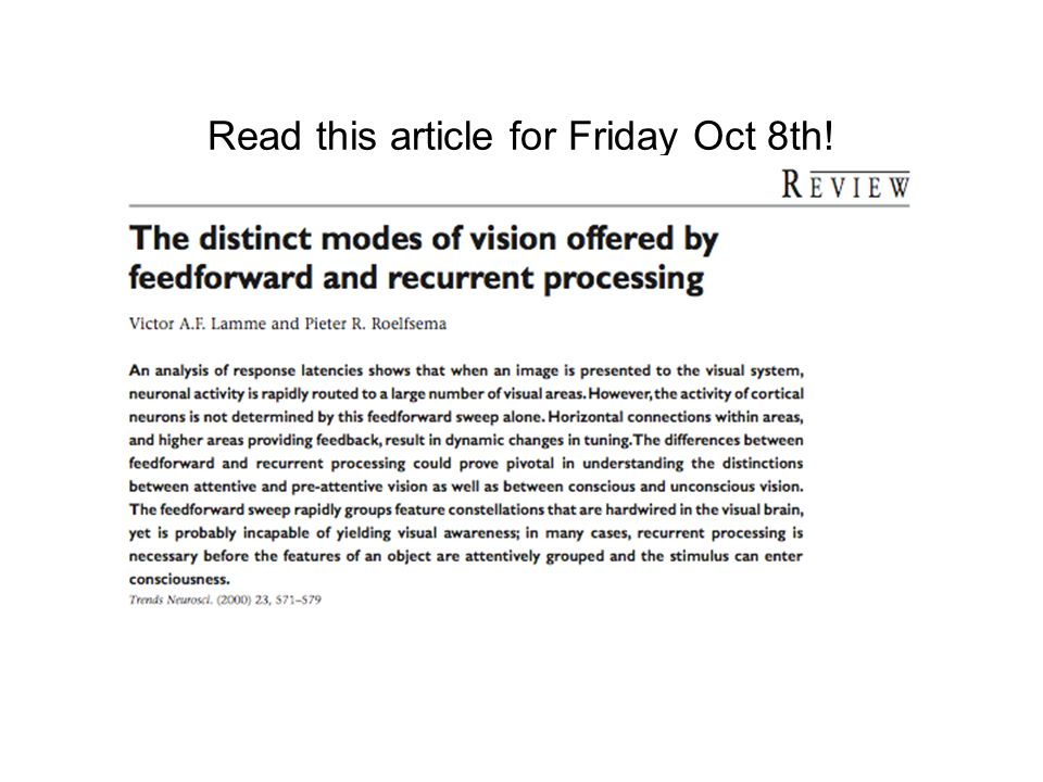 Read this article for Friday Oct 8th!