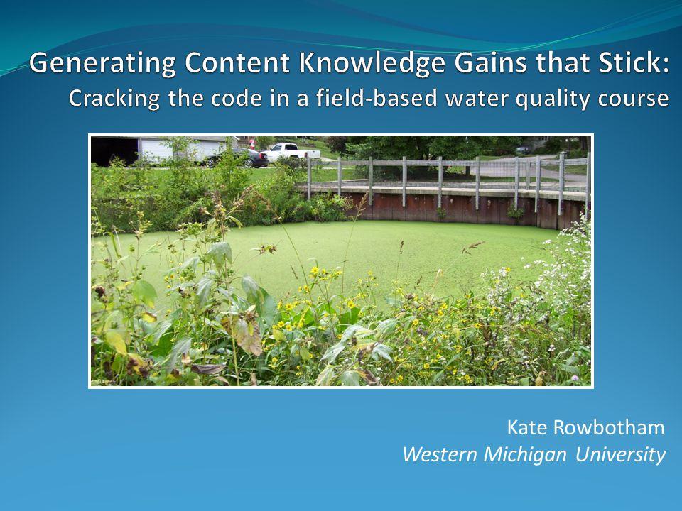 Kate Rowbotham Western Michigan University