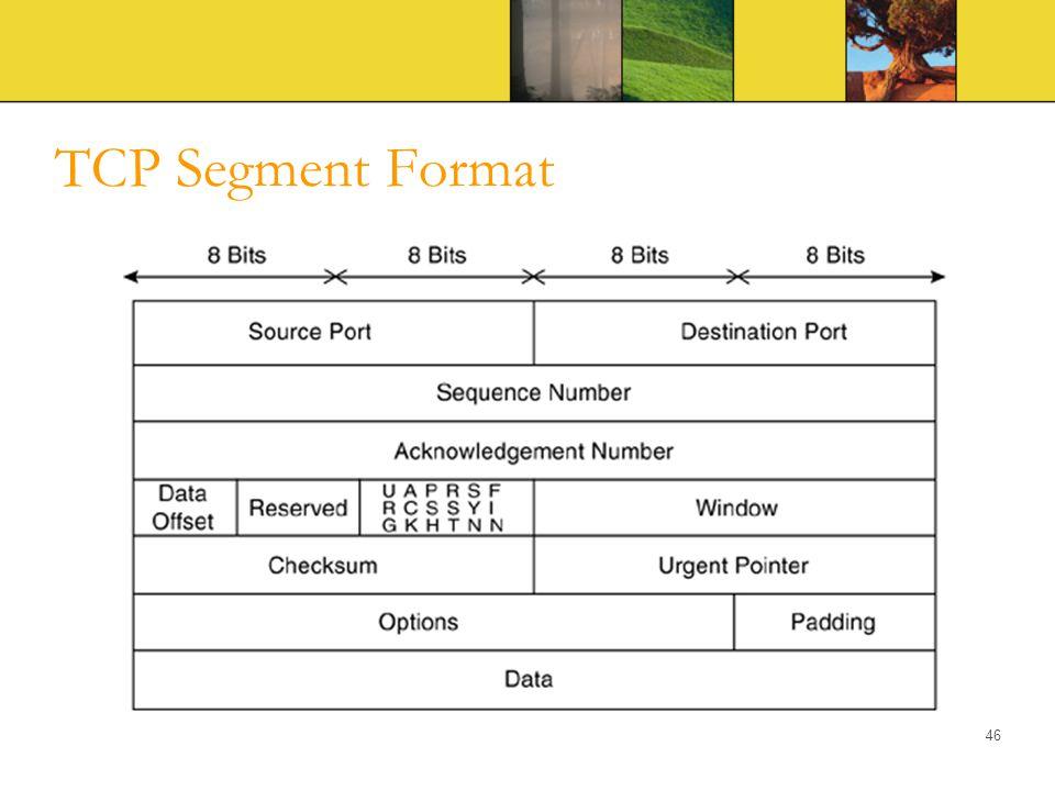 TCP Segment Format 46