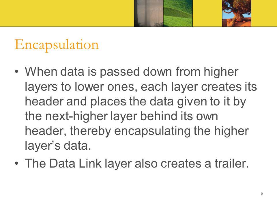 Encapsulation – Layer 4 7