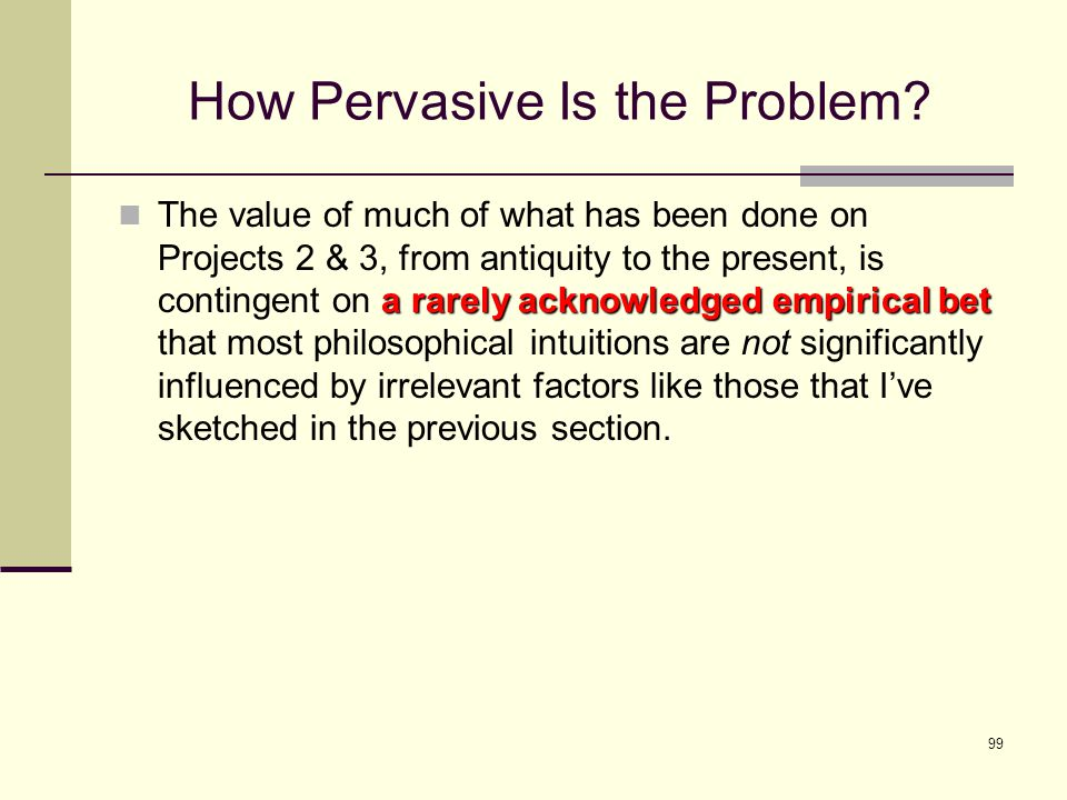 99 How Pervasive Is the Problem.