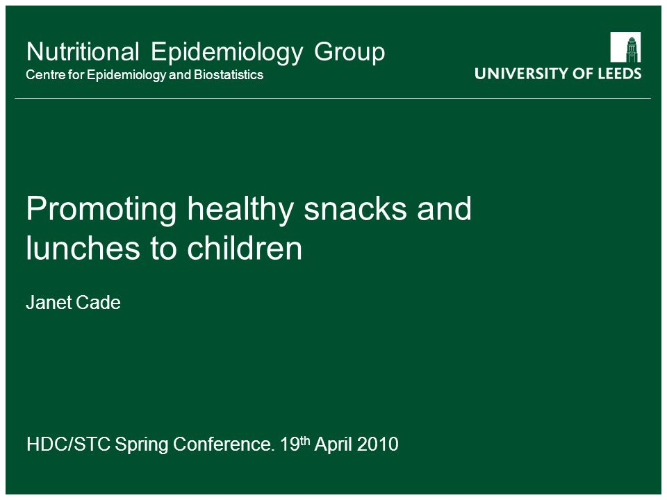 Nutritional Epidemiology Group Centre for Epidemiology and Biostatistics How to move from….