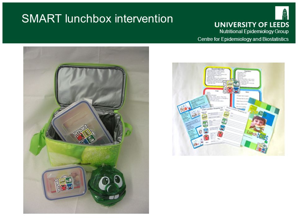 Nutritional Epidemiology Group Centre for Epidemiology and Biostatistics SMART lunchbox intervention UK Survey of children's packed lunches
