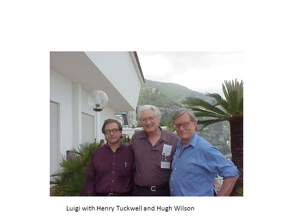 Luigi with Henry Tuckwell and Hugh Wilson