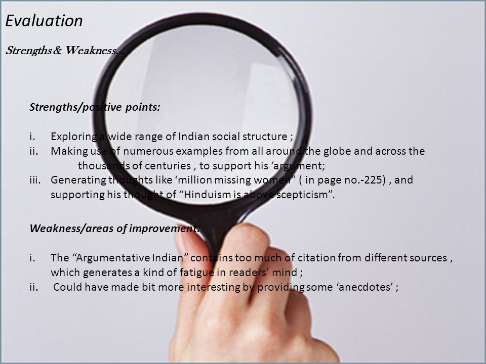 Evaluation Uses of sources…..