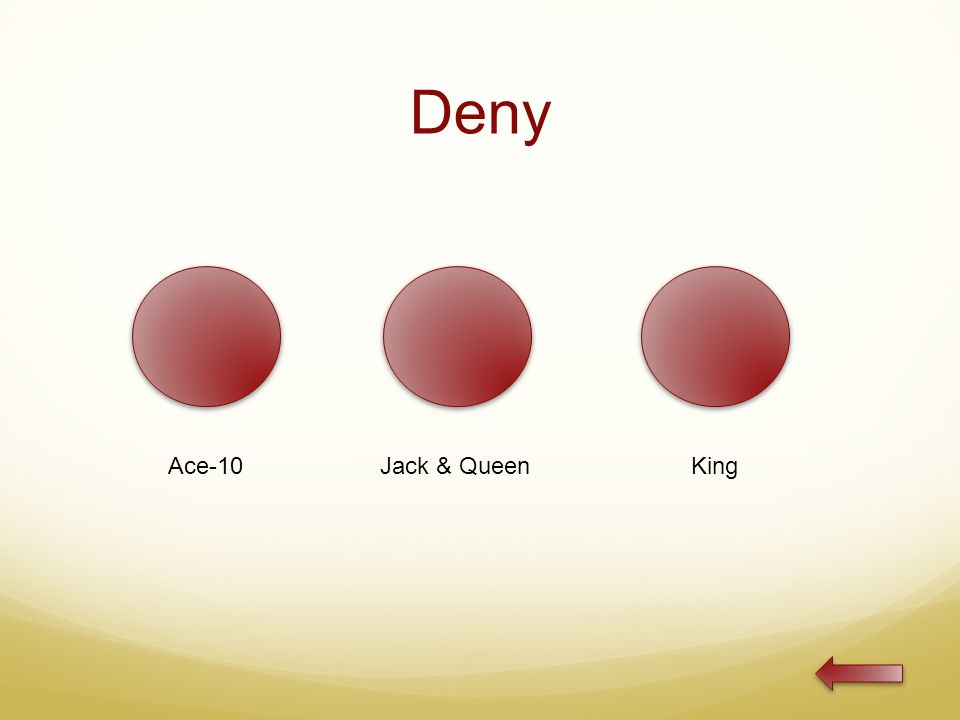 Deny Ace-10Jack & QueenKing