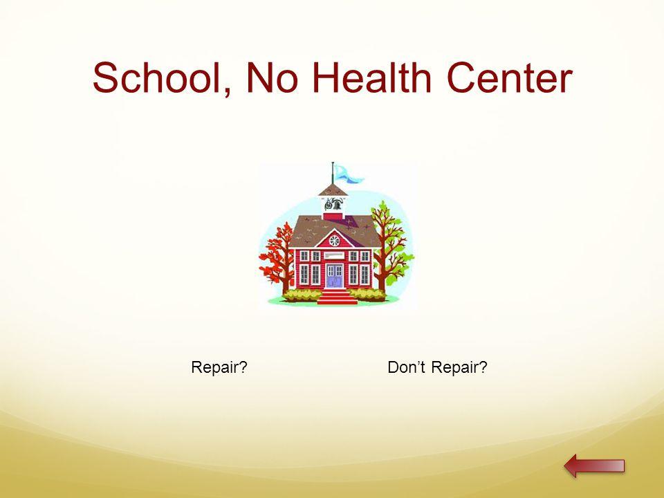School, No Health Center Repair Don't Repair