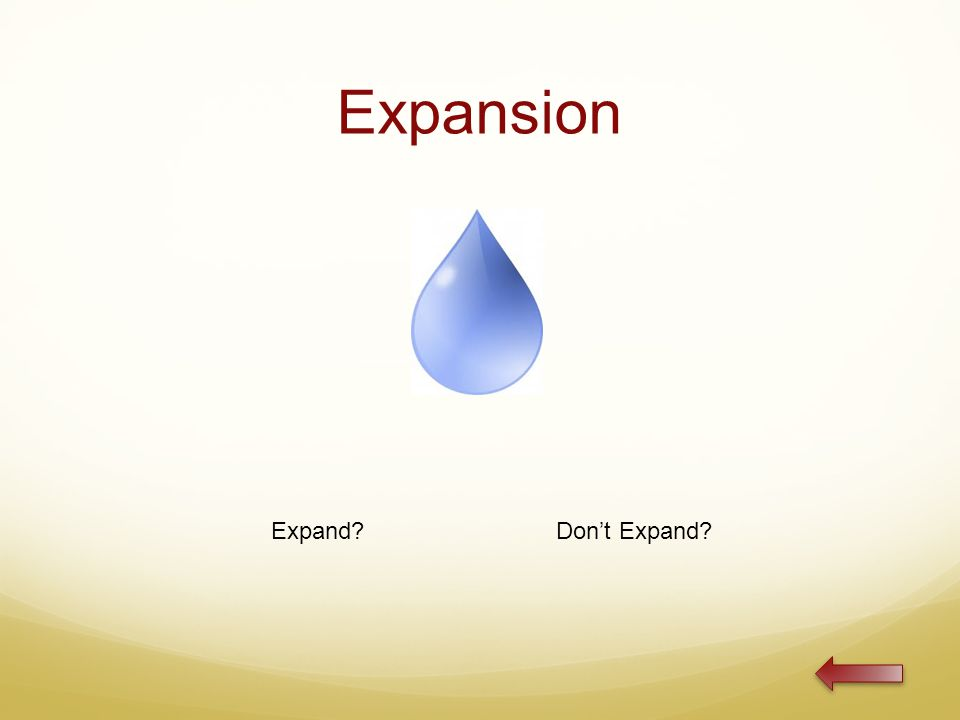 Expansion Expand Don't Expand
