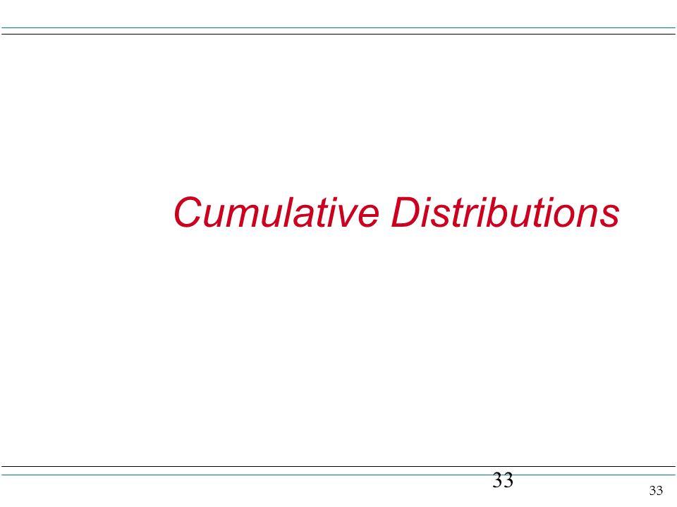 33 Cumulative Distributions