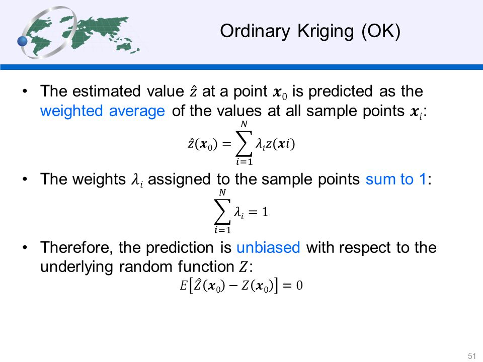 Ordinary Kriging (OK) 51