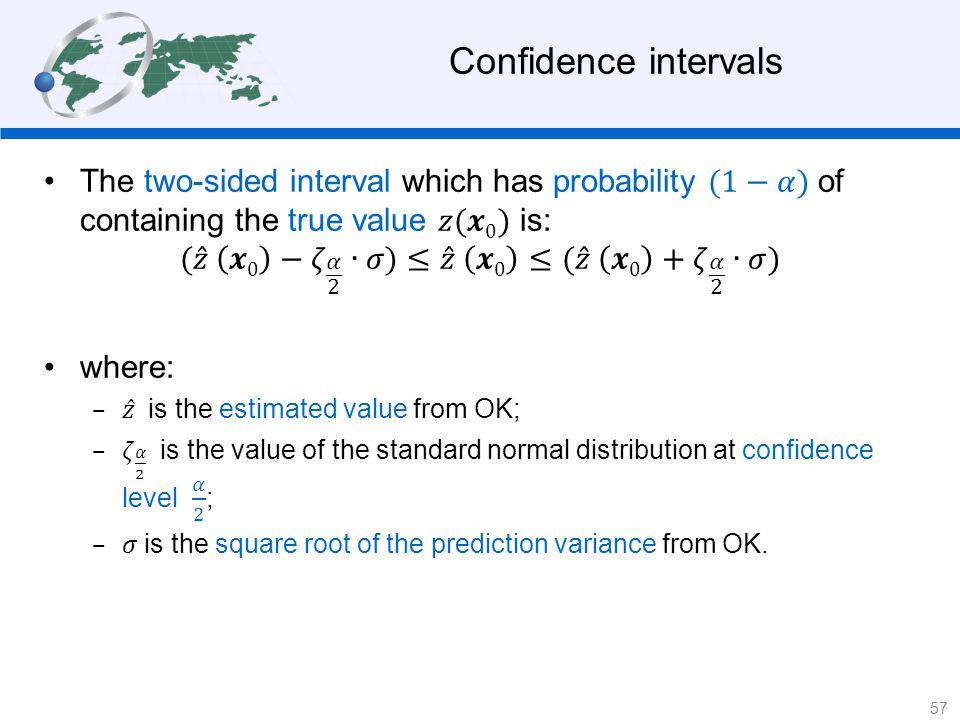 Confidence intervals 57