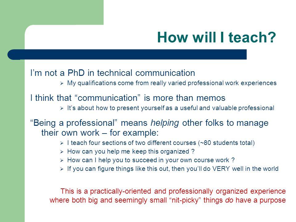 How will I teach.