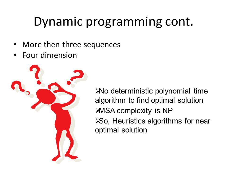 Dynamic programming cont.