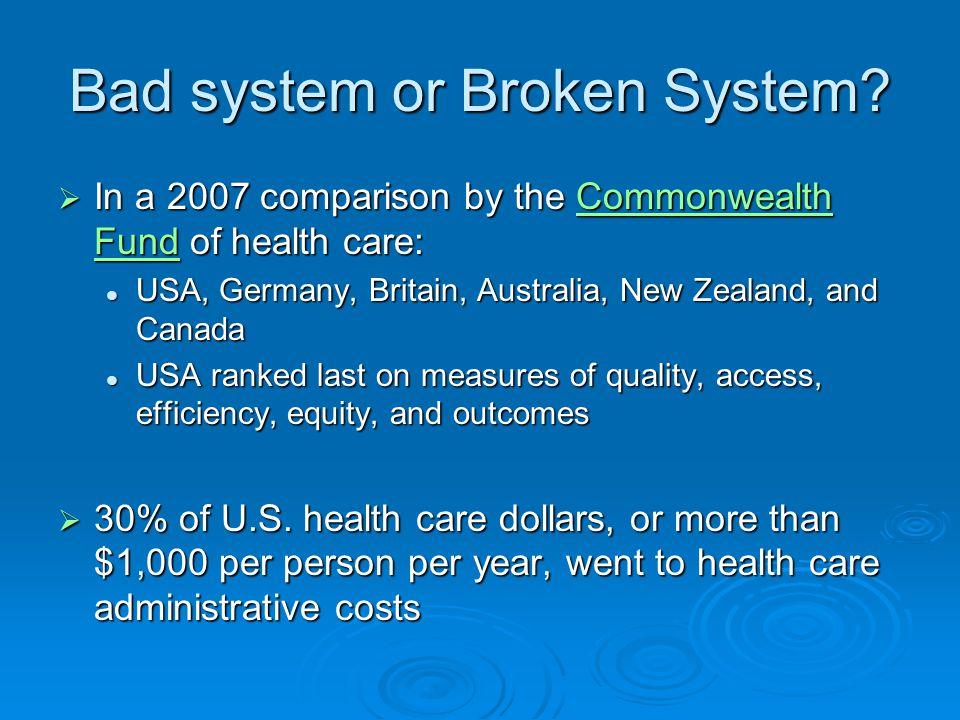 Bad system or Broken System.