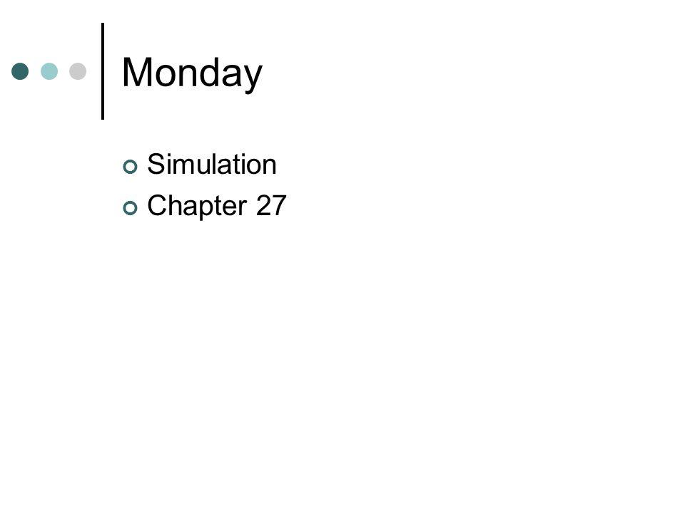 Monday Simulation Chapter 27