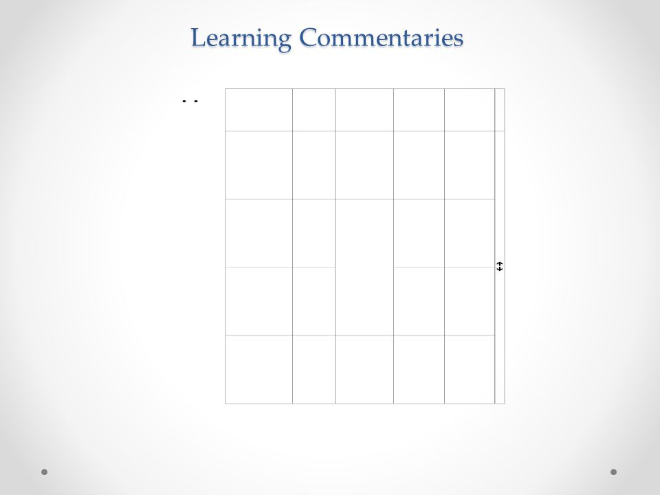 Learning Commentaries