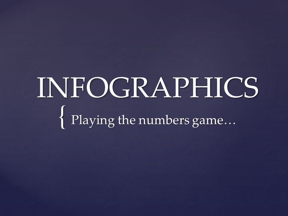 { INFOGRAPHICS Playing the numbers game…