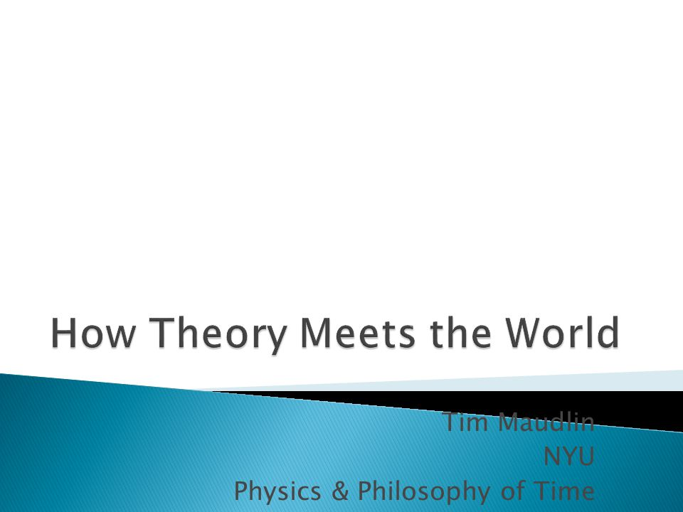  Physics is supposed to be an empirical theory, i.e.