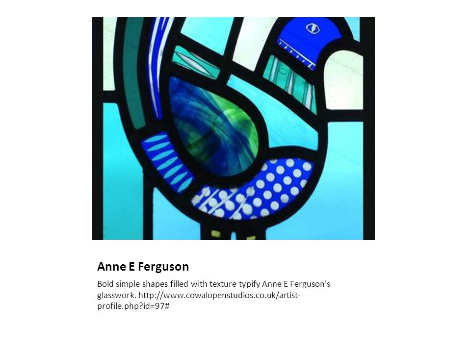 Anne E Ferguson Bold simple shapes filled with texture typify Anne E Ferguson s glasswork.